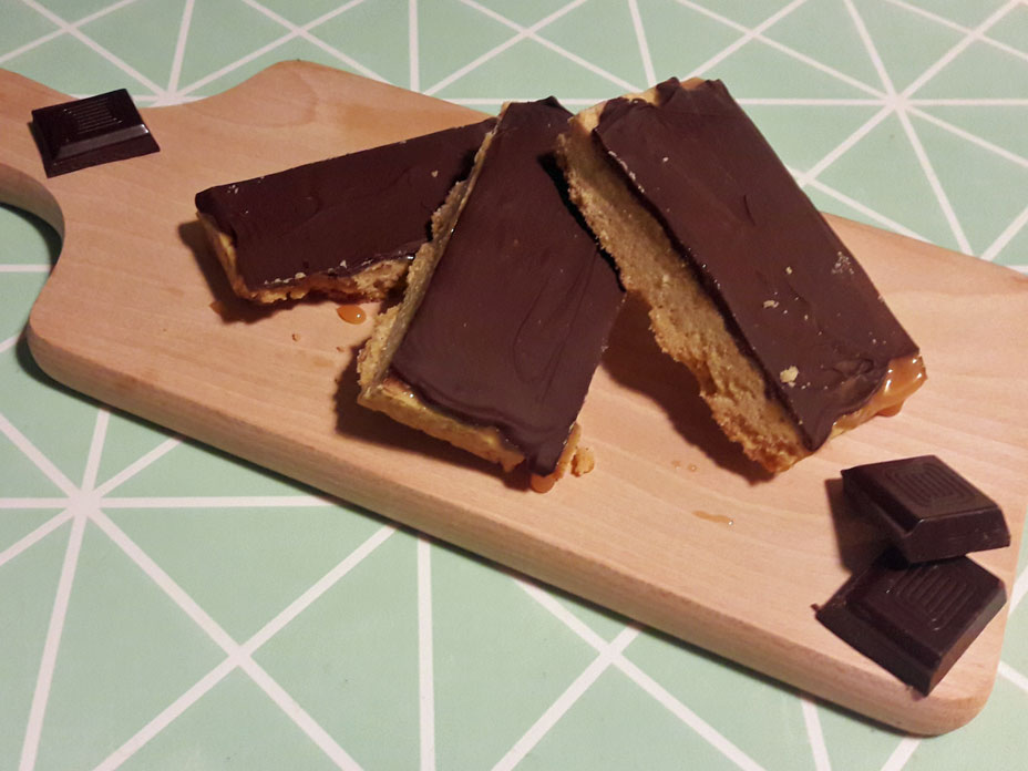Karamel-Chocolade Koek