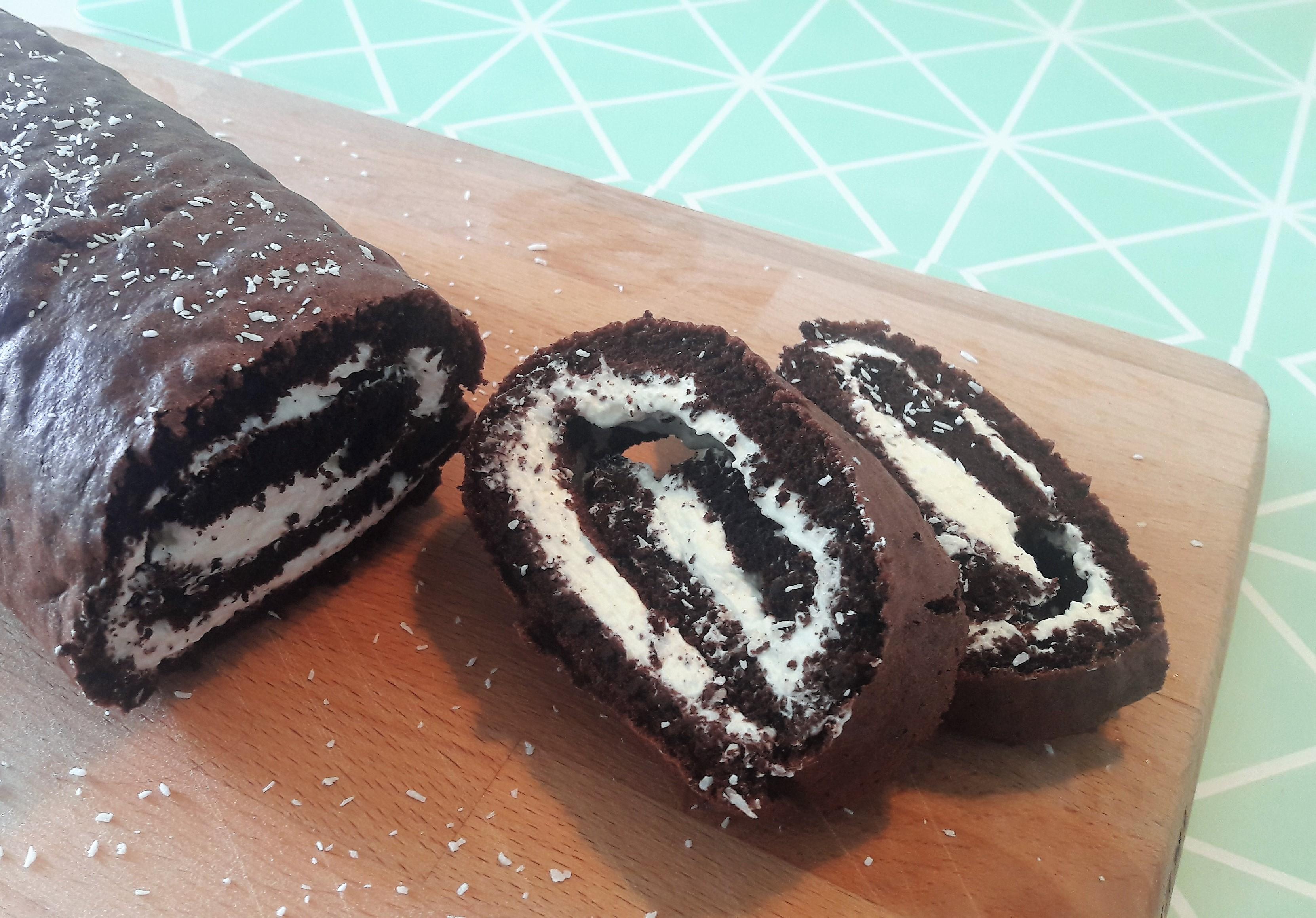 Chocolade-kokos taart