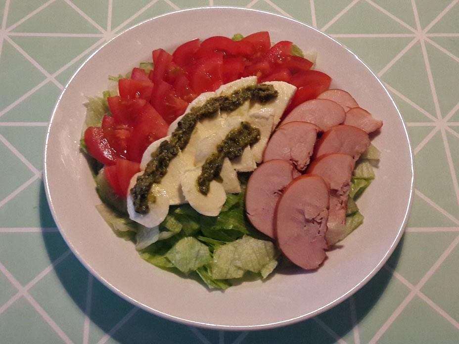 Zomerse salade met kip