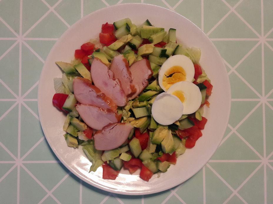 Hollandse salade met kip en ei