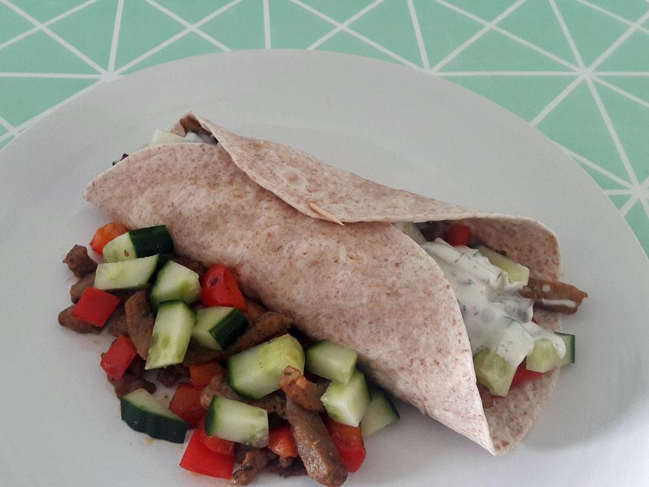 Gyros wrap met groente