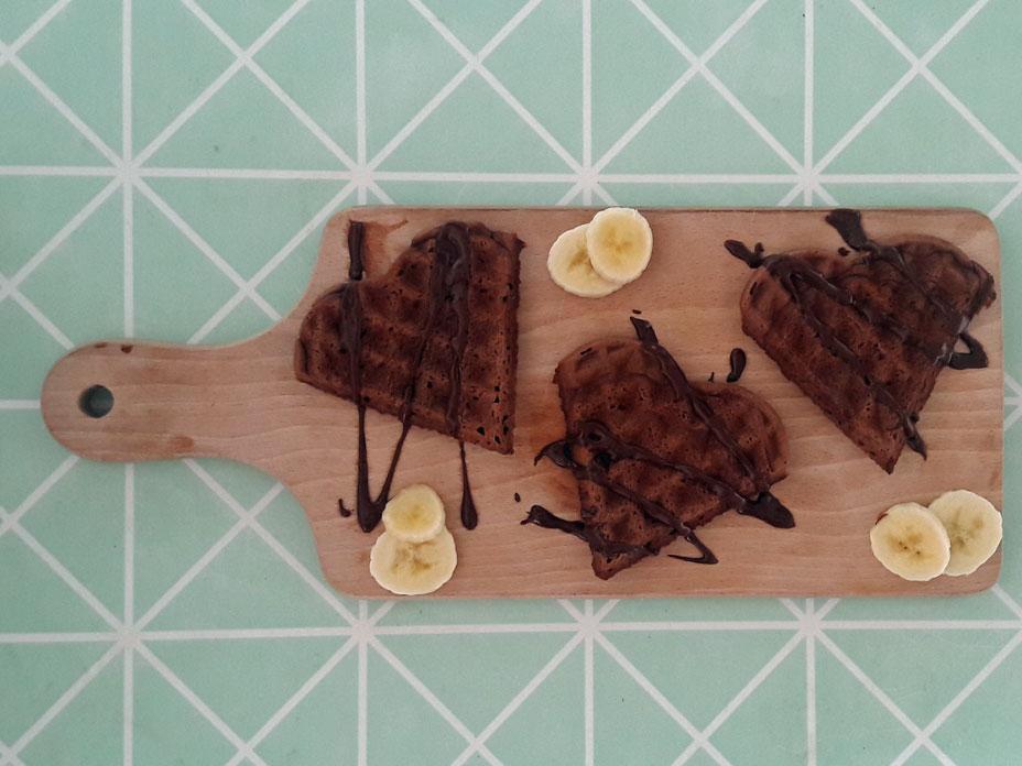 Gezonde chocolade wafels