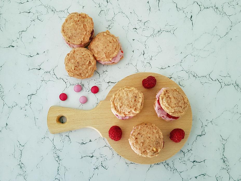 Frambozen macarons