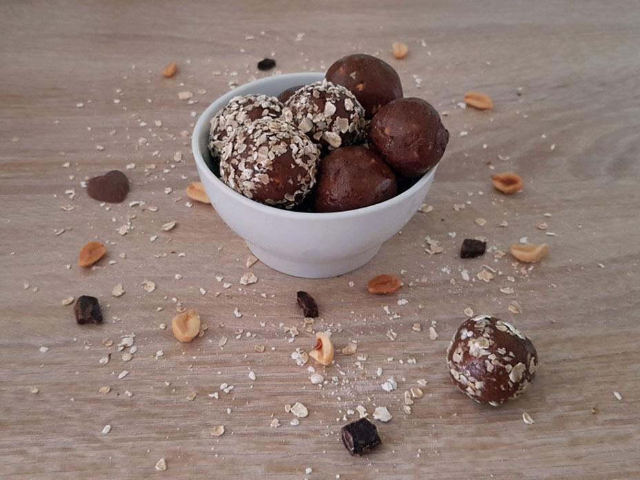 Pindakaas brownie bites