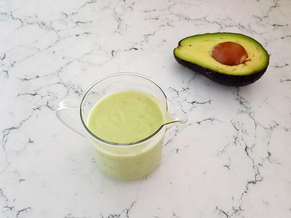 Gezonde avocado dressing