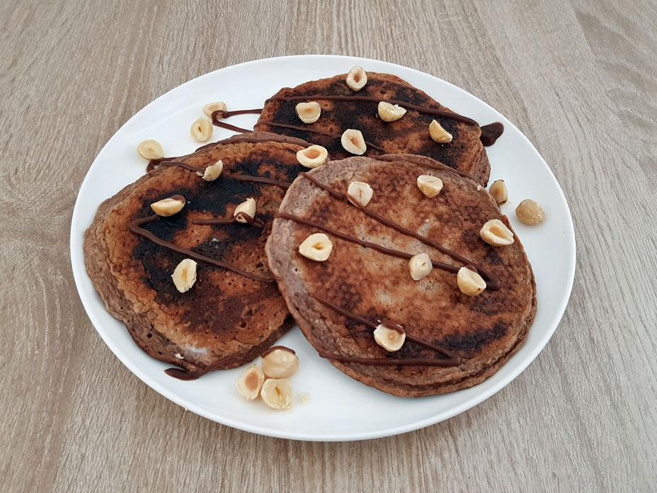 Chocolade Yoghurt Pancakes