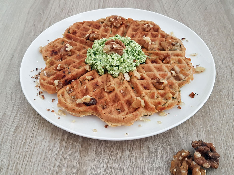 Courgette wafels