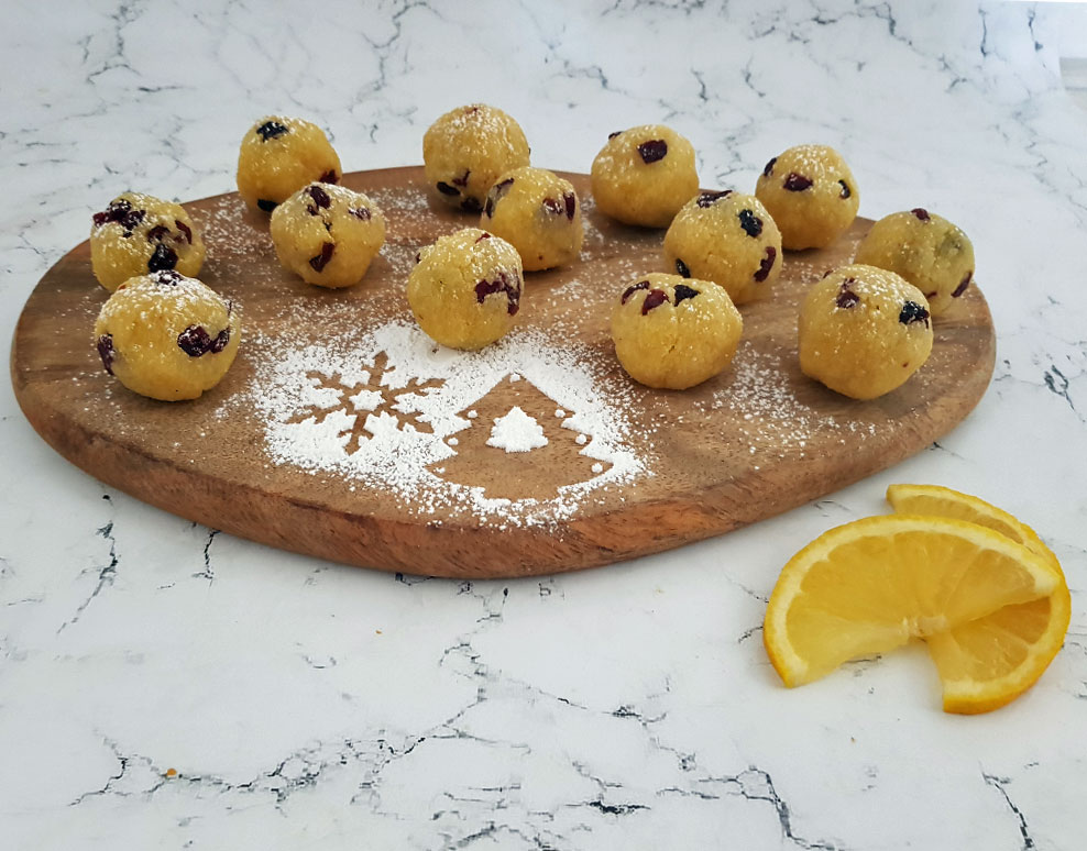 Lemon cranberry energy balls
