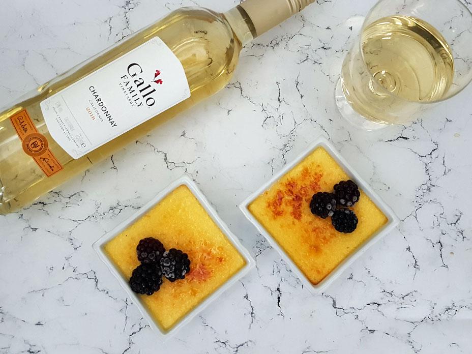 Crème brûlée met wijn