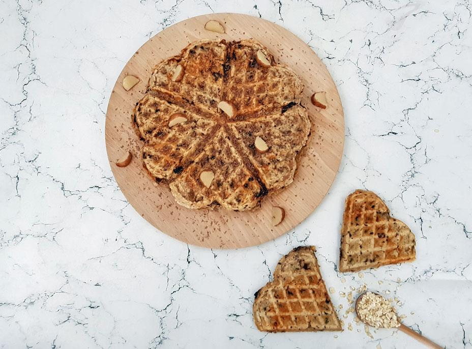 Havermoutwafels met marsepein en chocola