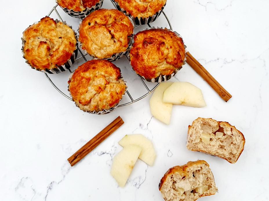Gezonde muffins met peer en vanille