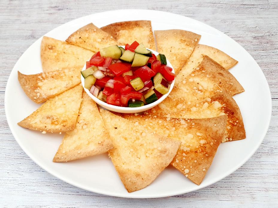 Wrap nachos met tomatensalsa