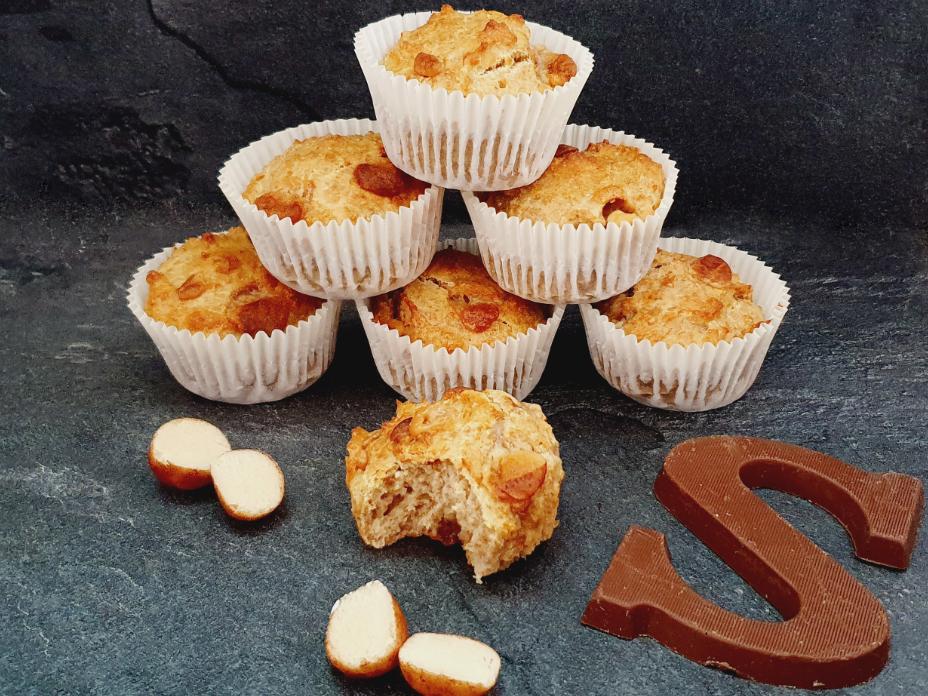 Marsepein muffins met sinaasappelsap