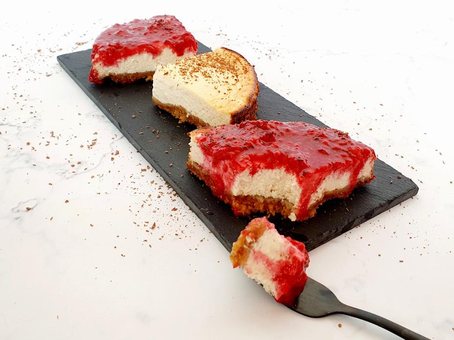 Gezonde cheesecake met cottage cheese