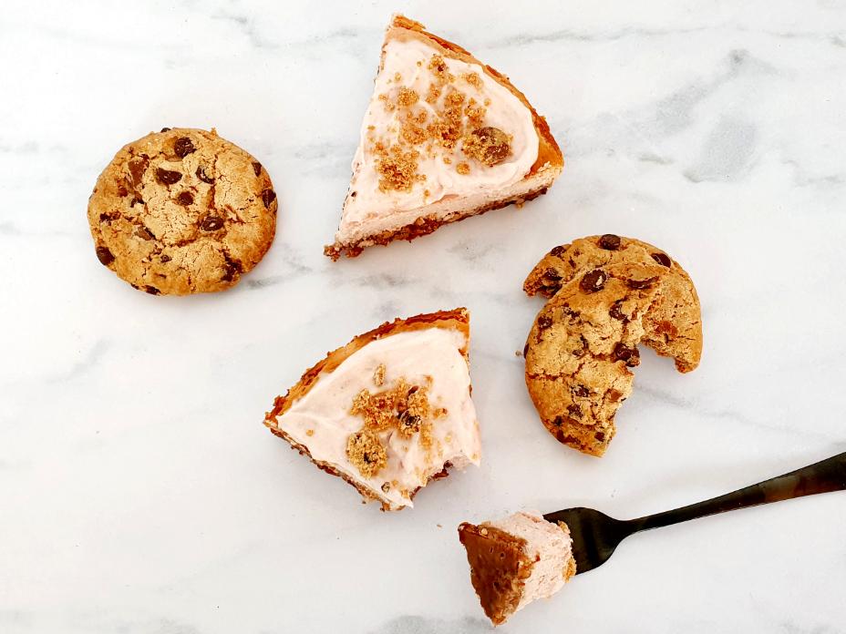 Kersen cheesecake met cookiebodem