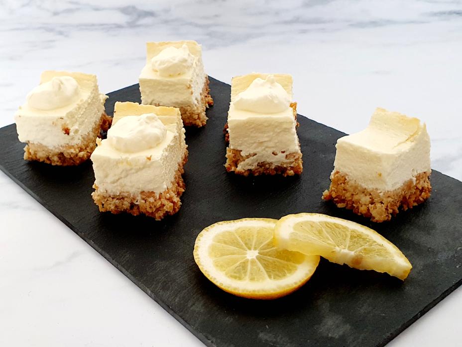 Gezonde citroen cheesecake