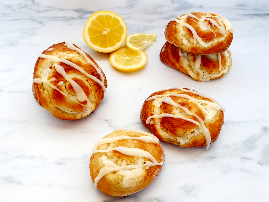 Gezonde citroenbroodjes